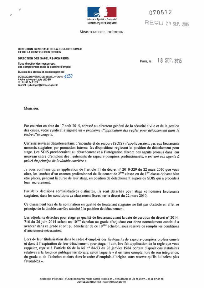2015-09-18 - réponse DGSCGC-pb-detachement 1