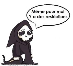 restriction mort