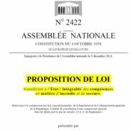 INFORMATION PROPOSITION DE LOI ETATISATION DES SDIS